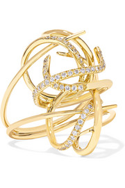Tyche 18-karat gold diamond ring