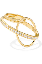 Gaelle Khouri Dianoia 18-karat gold diamond ring