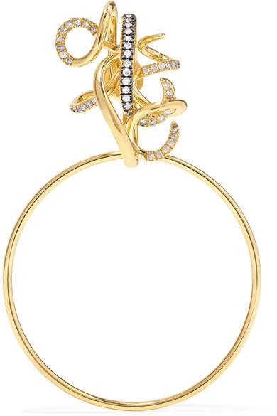 GAELLE KHOURI EPOCHE 18-KARAT GOLD DIAMOND EARRING