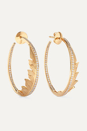 Magnipheasant 18-karat gold diamond hoop earrings