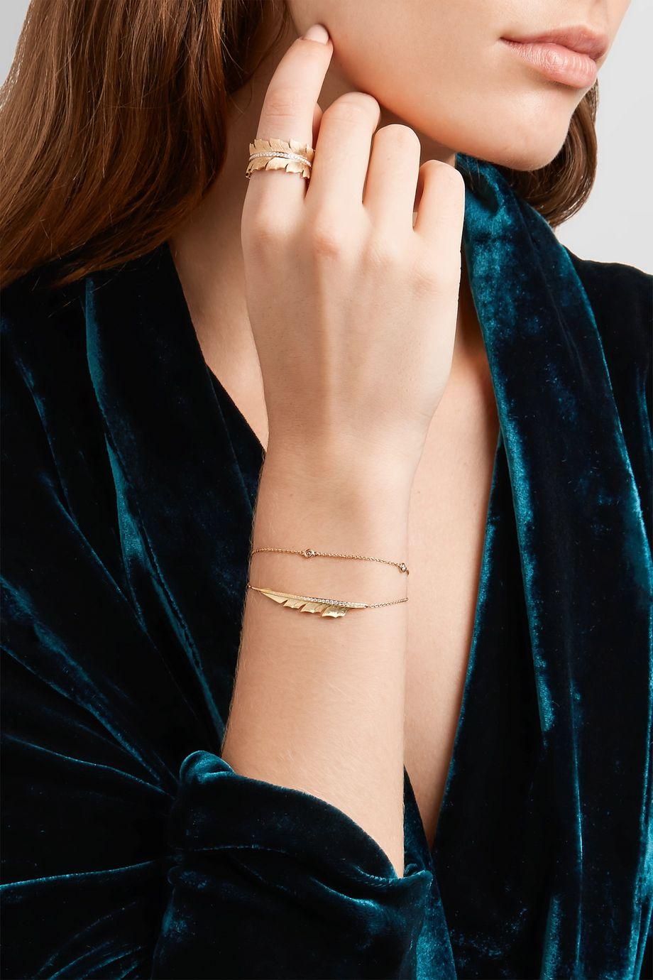 Stephen Webster Magnipheasant 18-karat gold diamond bracelet