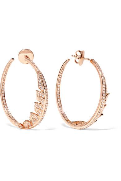Stephen Webster Magnipheasant 18-karat Rose Gold Diamond Hoop Earrings EUsJNN