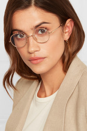 Gold and silver-tone optical glasses