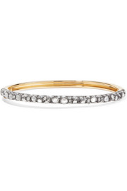 Fred Leighton Collection 18-karat gold, sterling silver and diamond bracelet