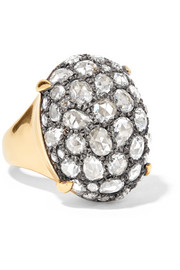 Fred Leighton Collection gold, silver and diamond ring