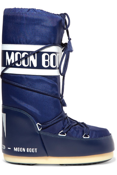 MOON BOOT Shell And Rubber Snow Boots in Blue