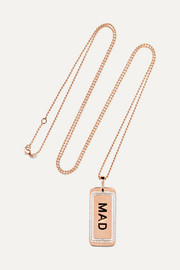 Genius Mad 18-karat rose gold diamond necklace