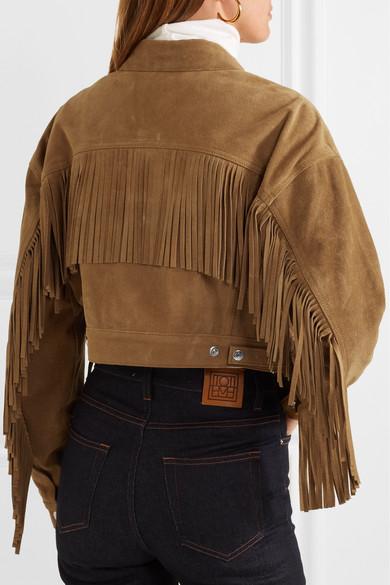 短款流苏绒面革夹克展示图