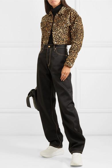 387b44c5151a RE/DONE | Cropped leopard-print velvet jacket | NET-A-PORTER.COM