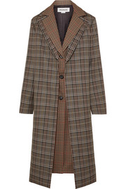 Monse Layered checked wool-blend coat