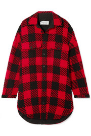 Monse Oversized checked wool-bouclé coat