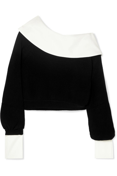 ADEAM Convertible Cashmere And Cotton-Blend Sweater