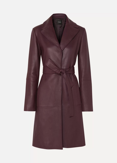Leather Trench Coat by Theory