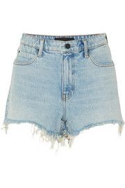Short en jean effilé