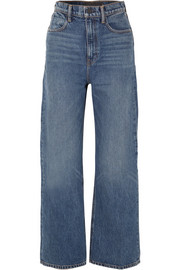 Crush high-rise wide-leg jeans
