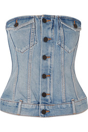 Strapless denim top
