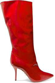 Paul Andrew Ciondolare patent-leather knee boots