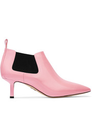 Ang patent-leather ankle boots