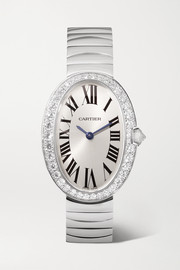 Baignoire 24.5mm small 18-karat white gold and diamond watch