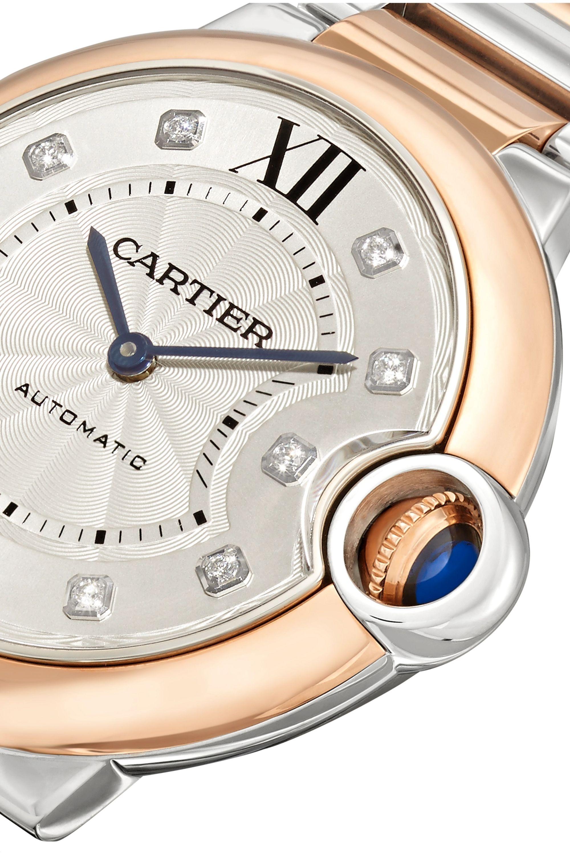 Cartier Ballon Bleu de Cartier 36mm 18-karat rose gold, stainless steel and diamond watch
