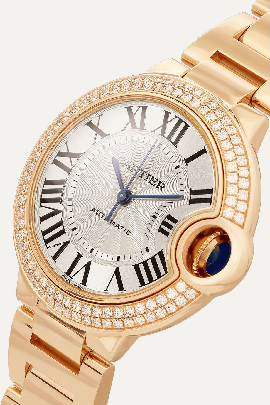 Cartier Montre en or rose 18 carats et diamants Ballon Bleu de Cartier 33 mm