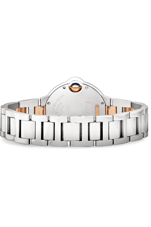 Cartier Ballon Bleu de Cartier 33mm 18-karat pink gold, stainless steel and diamond watch