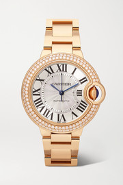 Cartier Montre en or rose 18 carats et diamants Ballon Bleu de Cartier Automatic 36 mm