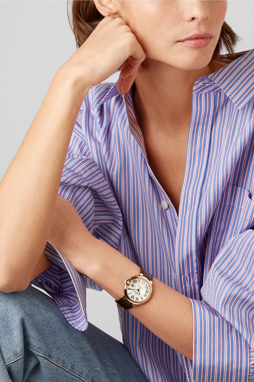 Cartier Ballon Bleu de Cartier 36mm 18-karat pink gold and alligator watch