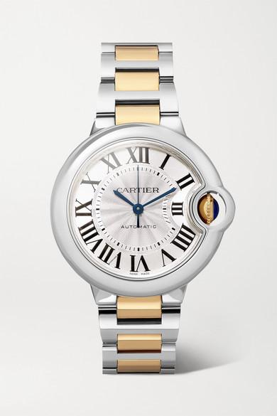 Cartier Ballon Bleu de Cartier 33mm 18-karat gold and stainless steel watch