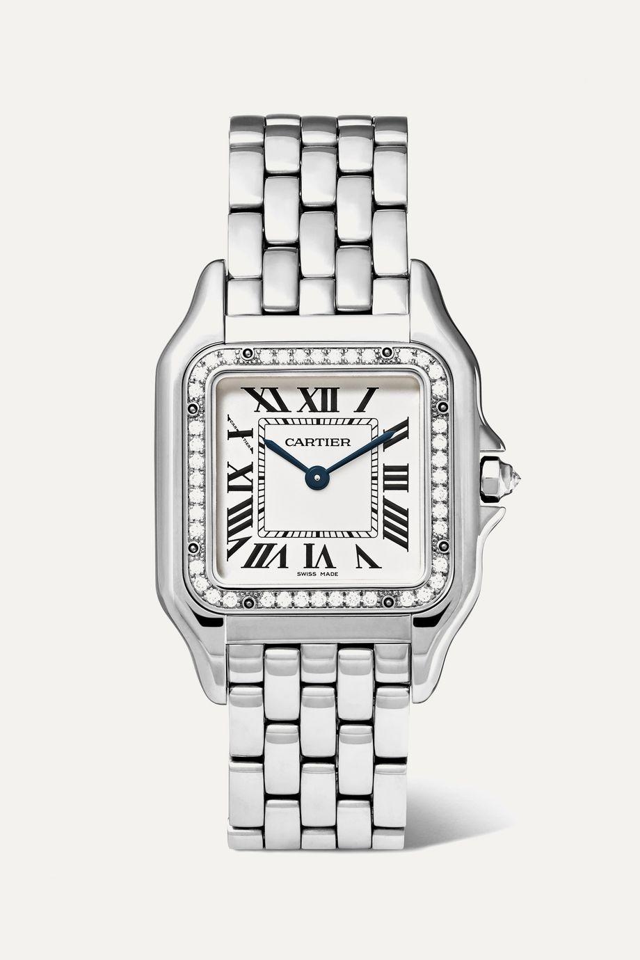 Cartier Panthère de Cartier 22 毫米小号精钢钻石腕表