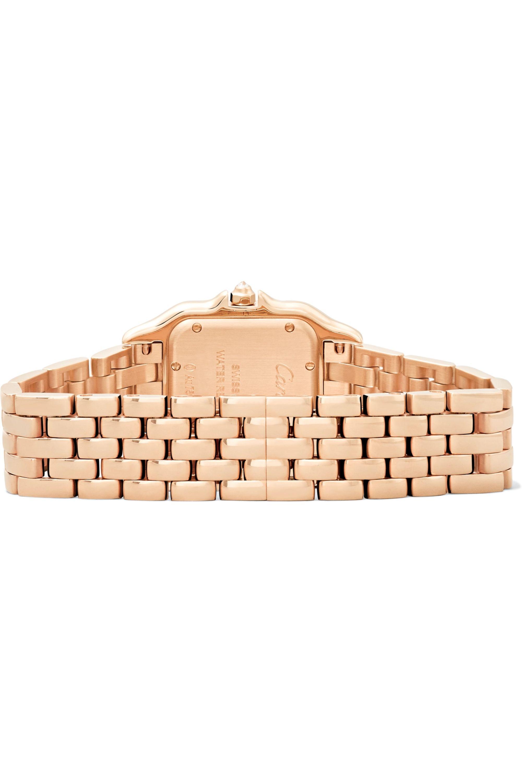 Cartier Panthère de Cartier medium 27mm 18-karat pink gold and diamond watch