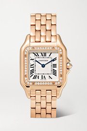 Cartier Montre en or rose 18 carats et diamants Panthère de Cartier Medium 27 mm