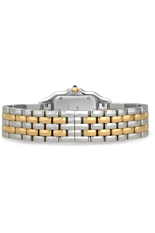 Cartier Panthère de Cartier 27 mm mittelgroße Uhr aus 18 Karat Gold und Edelstahl