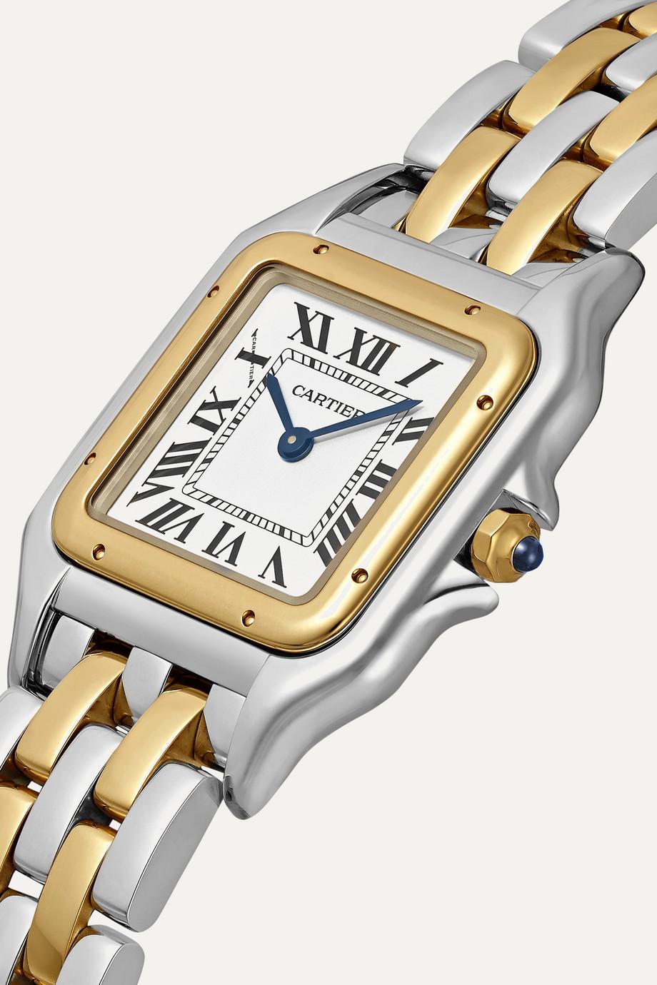 Cartier Panthère de Cartier 27mm medium 18-karat gold and stainless steel watch