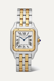 Panthère de Cartier 27mm medium 18-karat gold and stainless steel watch