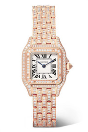 Cartier Montre en or rose 18 carats et diamants Panthère de Cartier Small 22 mm