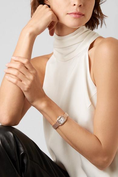 39751cf95e54 Panthère de Cartier 22mm small 18-karat pink gold and diamond watch.  £65