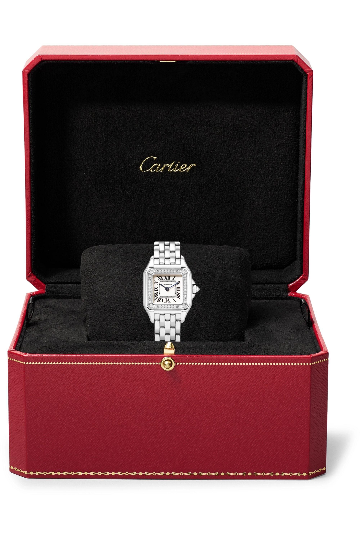 Cartier Panthère de Cartier 27mm medium stainless steel and diamond watch