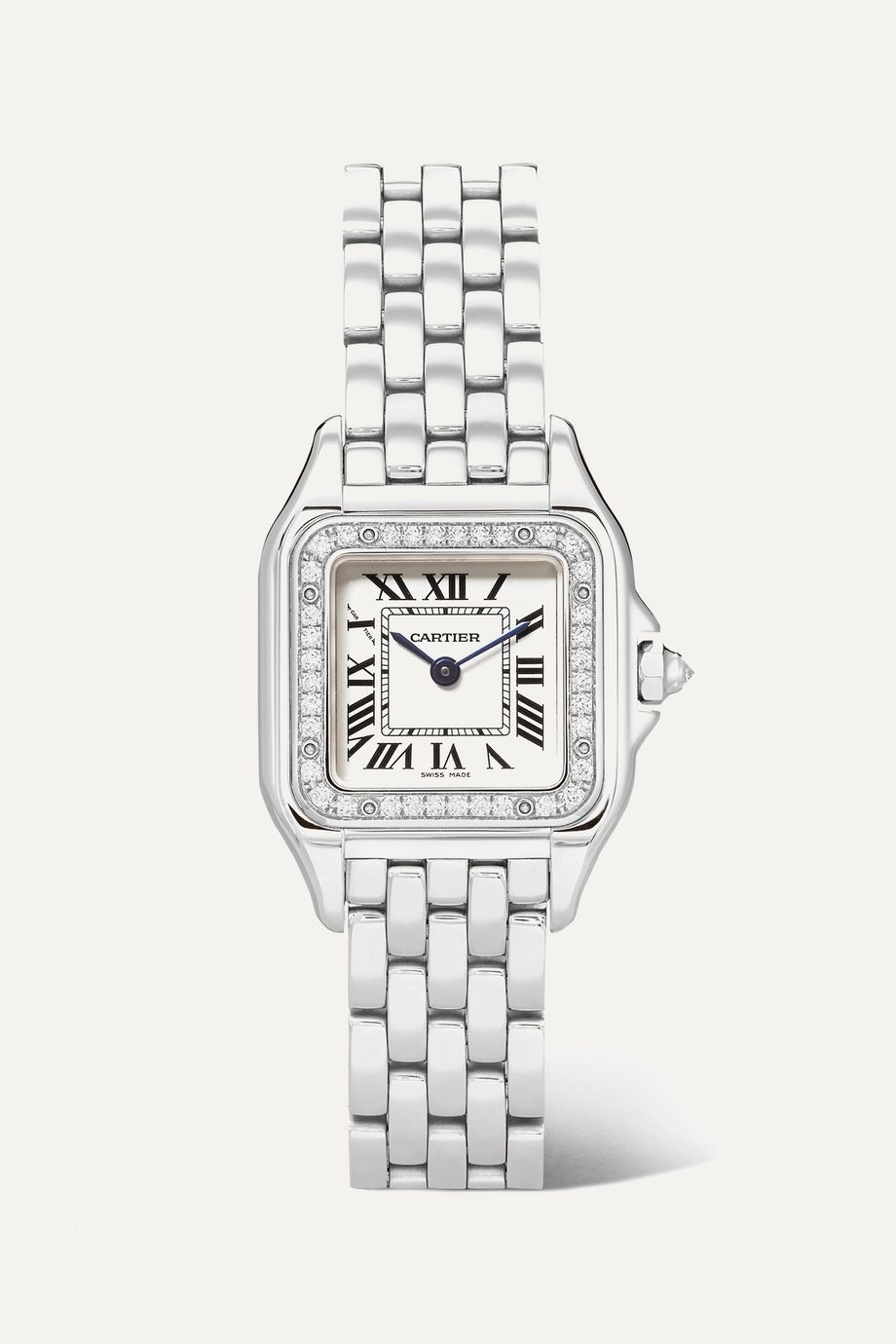Cartier Panthère de Cartier 27mm medium stainless steel and diamond watch