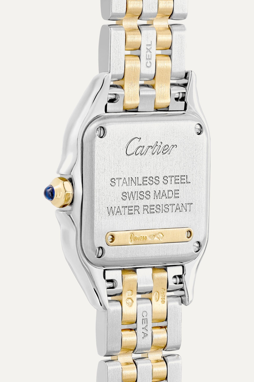 Cartier Panthère de Cartier 22mm small 18-karat gold and stainless steel watch