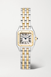 Panthère de Cartier 22mm small 18-karat gold and stainless steel watch