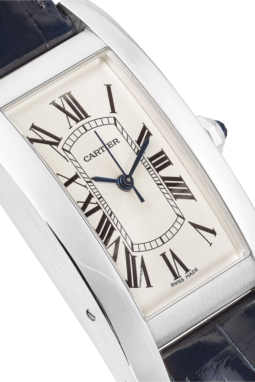 Cartier Tank Américaine 22.6mm medium stainless steel and alligator watch