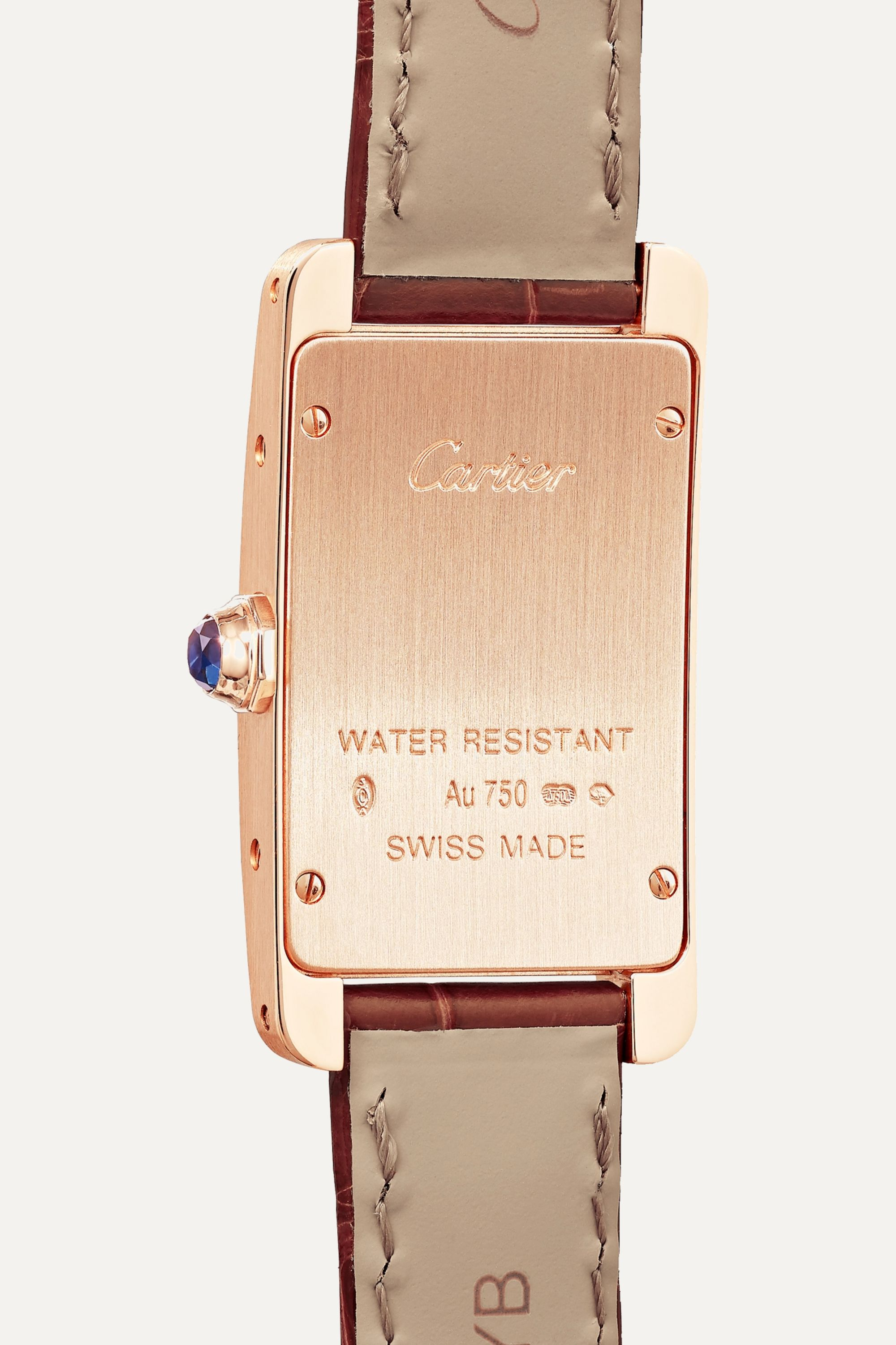Cartier Tank Américaine 34.8mm small 18-karat pink gold and alligator watch