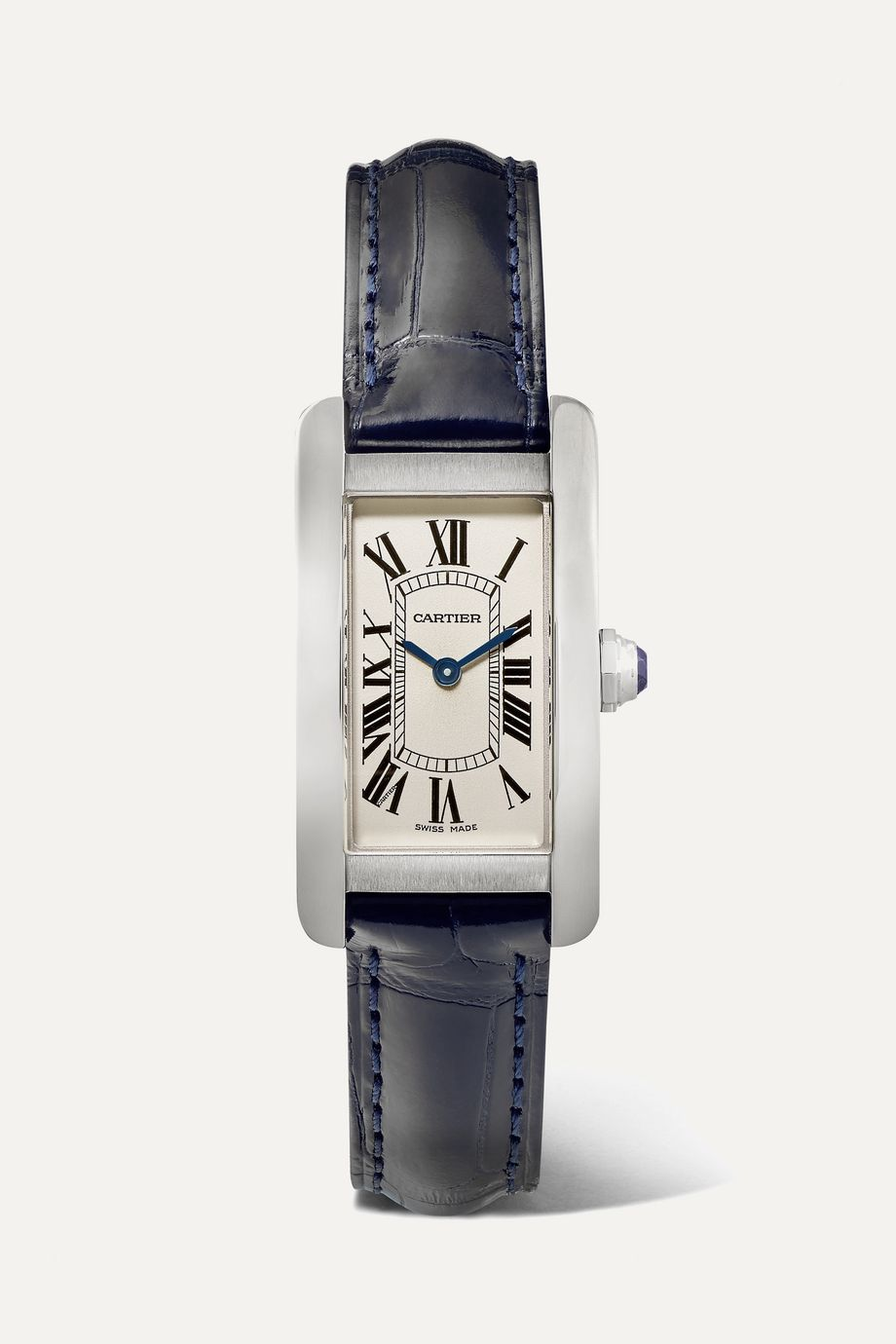 Cartier Tank Américaine 19mm small stainless steel and alligator watch