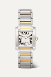 Cartier Tank Française 25.05mm medium 18-karat gold and stainless steel watch