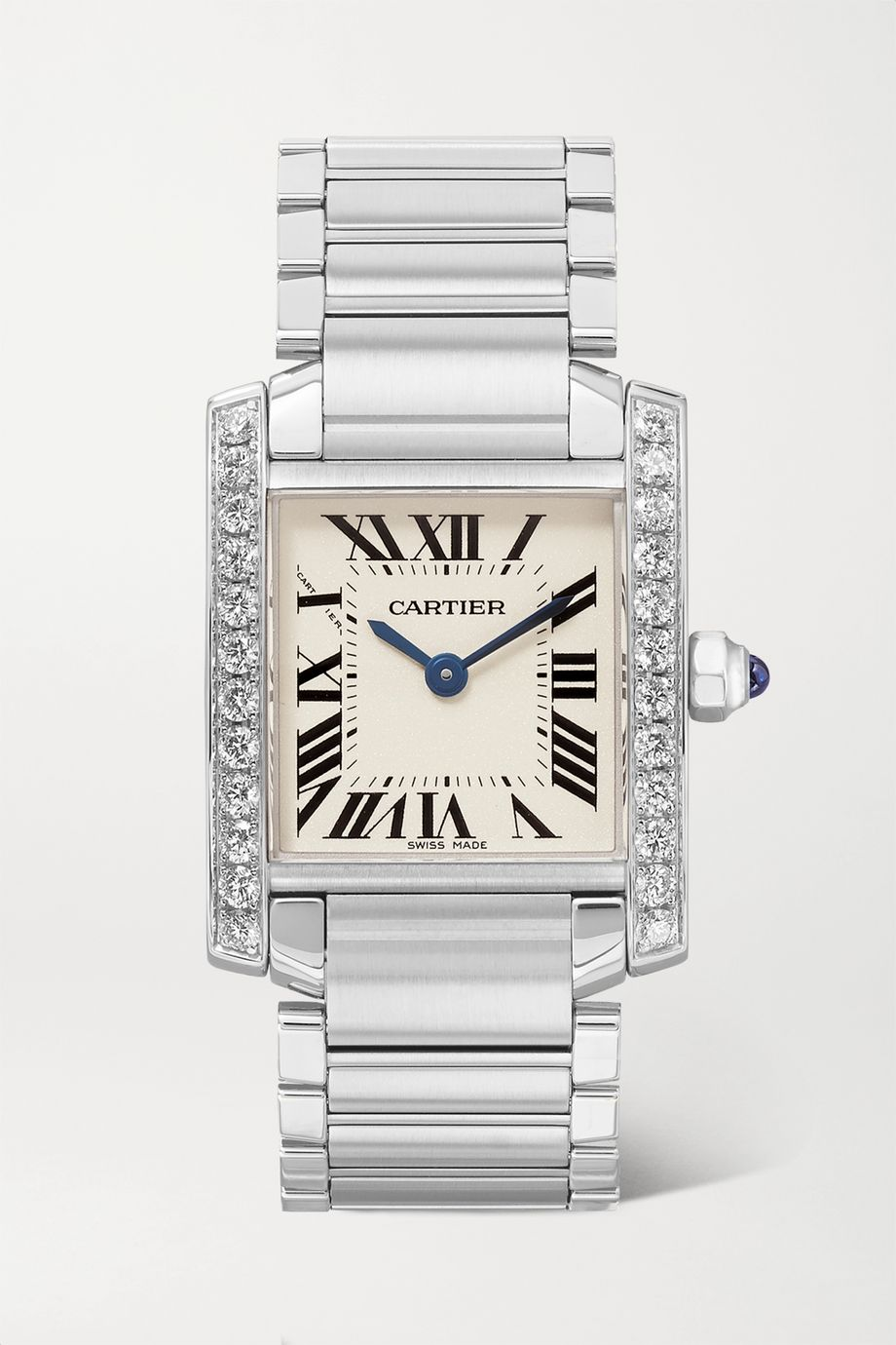 Cartier Tank Française 25.2mm small stainless steel and diamond watch