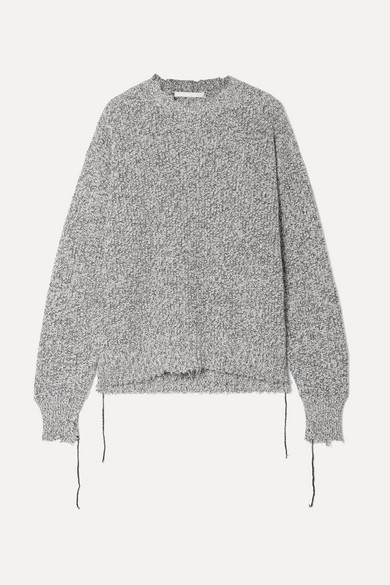 HELMUT LANG DISTRESSED KNITTED SWEATER