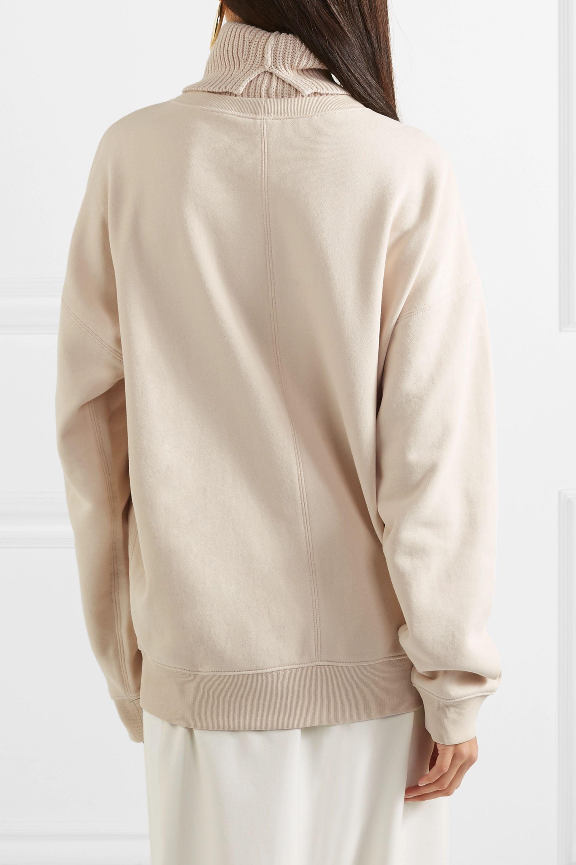 Helmut Lang Mehrlagiges Oversized-Sweatshirt aus Baumwolle mit Rollkragen