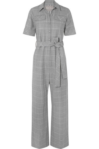 Lela Rose - Checked Cady Jumpsuit - Gray