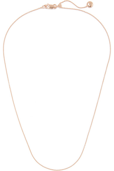 Rolo 17'' Rose Gold Vermeil Chain by Monica Vinader